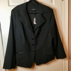 Lane Bryant Black Pindot Blazer NWT - Size 22